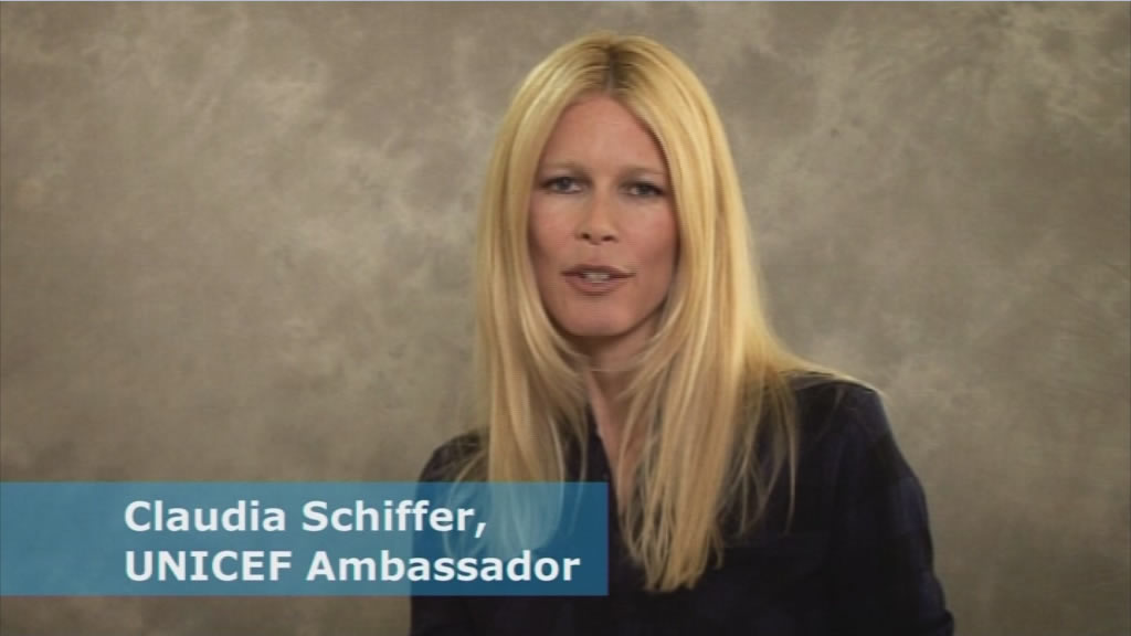 Screenshot Claudia Schiffer UNICEF Ambassador
